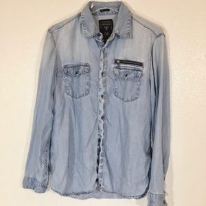 GUESS Broken-In Soft Denim Shirt Womens Sz. M